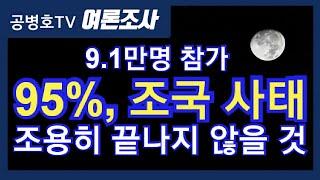 9.1만명 참가 / 95%, 조국 사태 / 조용히 끝나지 않을 것 [공병호TV]