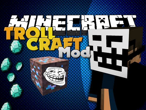 Minecraft Mod - TROLLCRAFT MOD - ITEMS TO TROLL FRIENDS - SSundee  - 4jkdJS8Yf7E -