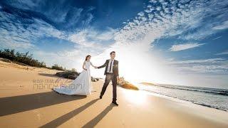 Clip cưới Flycam Hồ cốc đẹp rực rỡ của cặp đôi Sài Thành