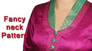 Easy Churidar stitching malayalam, മലയാളം  fancy churidar neck design malayalam DIY tutorial