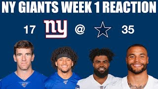 NY Giants Week 1 Reaction (What Defense?)