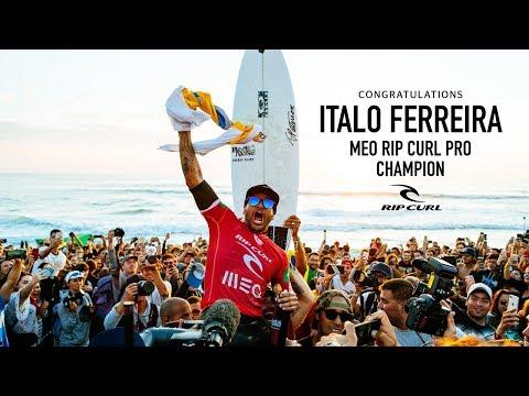 Italo Ferreira 2018 Rip Curl Pro Portugal Champion