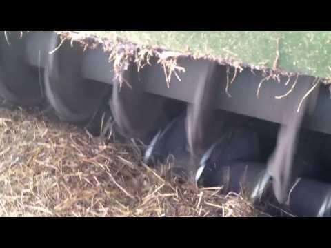biomassa extruder bij biogas installatie