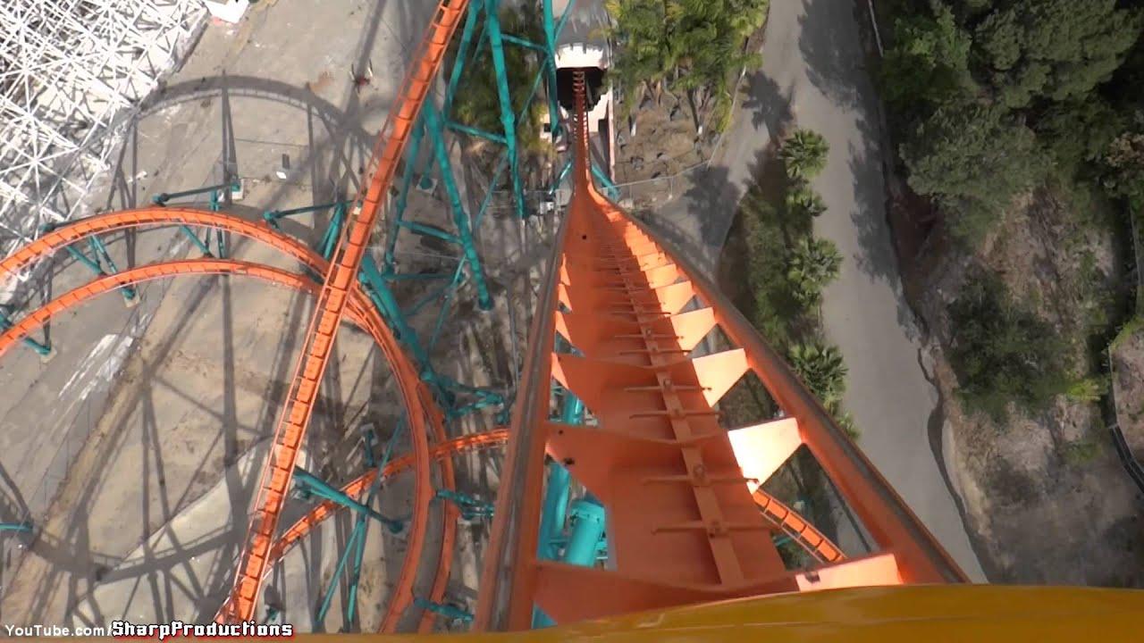 Goliath (On-Ride) Six Flags Magic Mountain - Valencia ...