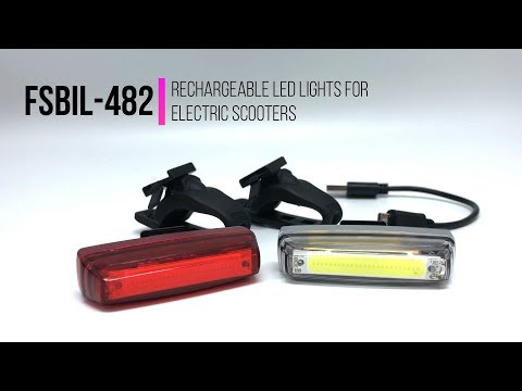 Rechargeable LED lights for electric scooter FSBIL-482 | MOBOT