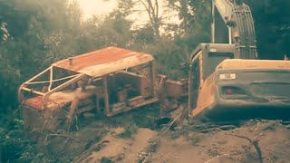 Worlds most powerful abandoned D85 Komatsu Bulldozer Recovery after 15 years Diesel Coldstart