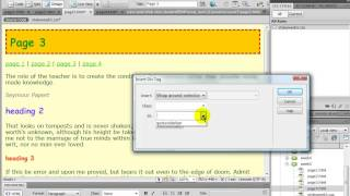 Dreamweaver:  setting a div and id selector