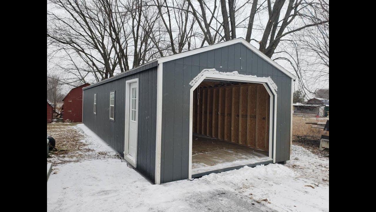 12 X 20 Wooden Portable Garage Sheds Garden Sheds
