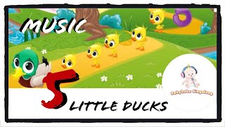 5 Little Ducks Instrumental 2018 Version - (Music Only) Learn To Count Numbers
