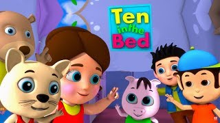 Ten in The Bed in Hindi   वो थे दस बिस्तर में   Hindi Rhymes For Children   Hindi Ginti 1-10