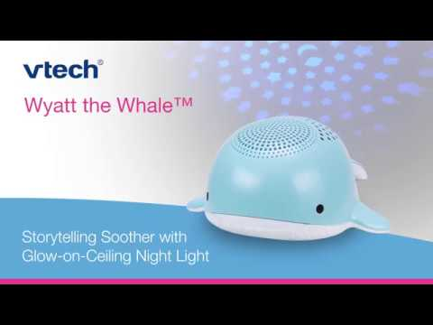 Wyatt the Whale™ Storytelling Soother with Glow-on-Ceiling Night Light BC8312