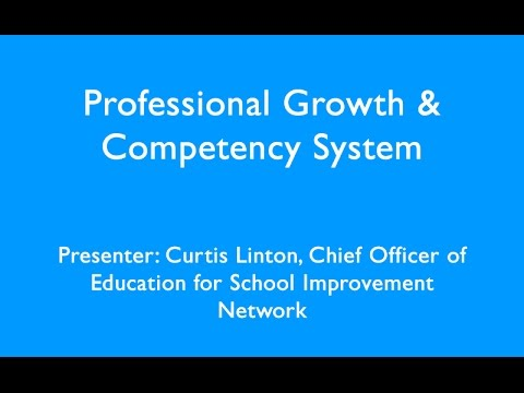 Professional Growth & Competency System Webinar