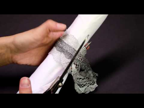 Metallic Lace Napkin Rings DIY