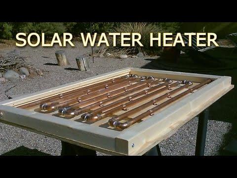 Solar Thermal COPPER PIPE Water Heater! - Easy DIY (full instr.) 150F+