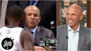 Jason Kidd recalls infamous moment he spilled drink on the court while coaching Nets | The Jump