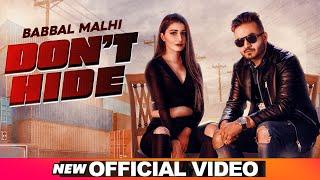 Video Don't Hide - Babbal Malhi