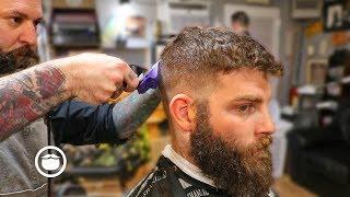A Classic Fade with Dense Beard Shape Up   The Dapper Den Barbershop