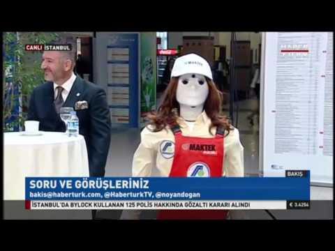 Haber Türk Kanalı Bakış Programında canlı yayınlanan Robot Hostes Ada konulu haber çalışması