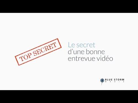 Le secret d'une bonne entrevue vidéo