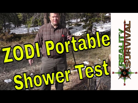 ZODI Outback Gear Extreme SC Hot Shower Field Test