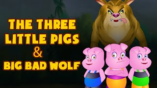 The Three Little Pigs and Big Bad Wolf | Fairy Tales for Children by Tiny Dream Kids