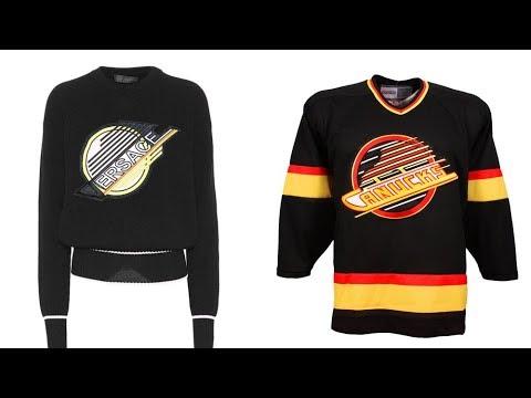 $1,200 Versace shirt resembles old Canucks jersey