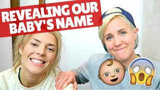 REVEALING OUR BABY'S NAME ft. Grace Helbig!