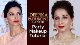 Deepika Padukone Inspired Party Makeup Tutorial | Celebrity Makeup Tutorial | Makeup Tip For Parties