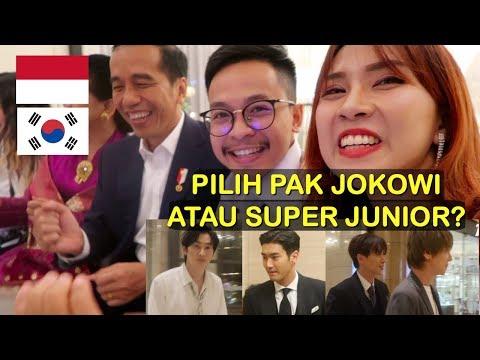 GOYANG DAYUNG BARENG PAK JOKOWI DI KOREA   + TATAPAN SAMA SIWON SUJU