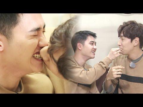 EXO D.O & Lee Kwangsoo Spaghetti Kiss?! 도경수, 이광수 '스파게티 키스' 《Running Man》런닝맨 EP459