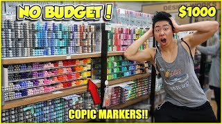 NO BUDGET AT THE ART STORE SHOPPING SPREE! | ZHC