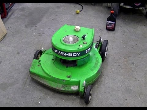 Pull Cord Repair On 2 Cycle Lawn Boy Lawn Mower Youtube