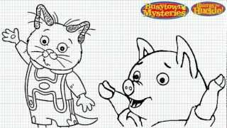 Richard Scarry Coloring Pages - Coloring Home | 180x320