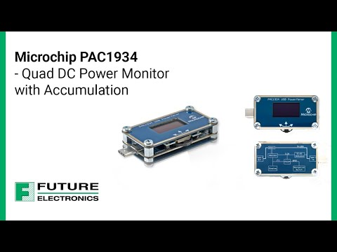 Microchip PAC1934 - Quad DC Power Monitor with Accumulation