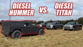 We Raced a NEW Diesel Titan vs. a Hummer H1 (it was epic lol!)