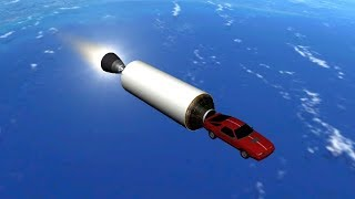 Orbiter 2016 - Tesla Roadster In Space-X Falcon Heavy Launch Simulation