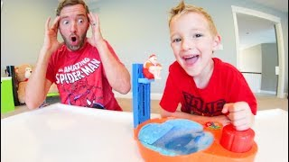 Father & Son PLAY HOT TUB HIGH DIVE!