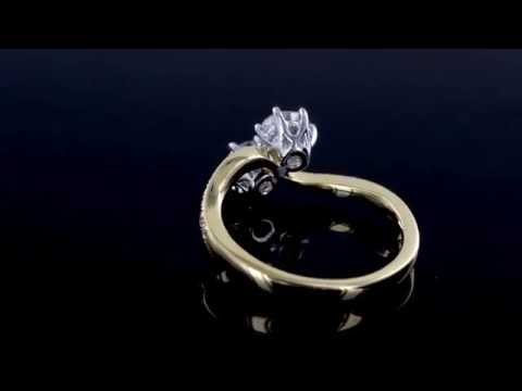 Browns Family Jewellers Diamond Twist Engagement Ring