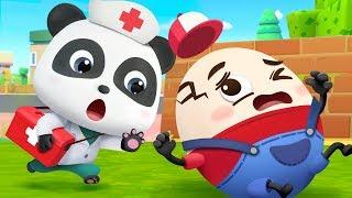 Humpty Dumpty   Doctor Caroon, Police Cartoon   Nursery Rhymes   Kids Songs   BabyBus