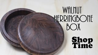 Walnut Herringbone Box
