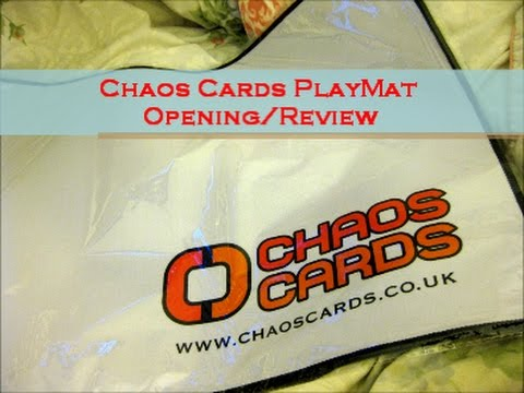 Chaos Cards Logo Playmat (with stitched border)