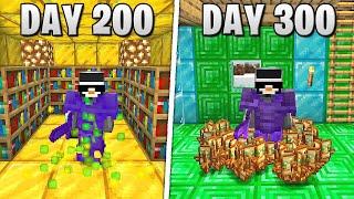 I Survived 300 Days in HARDCORE Minecraft...