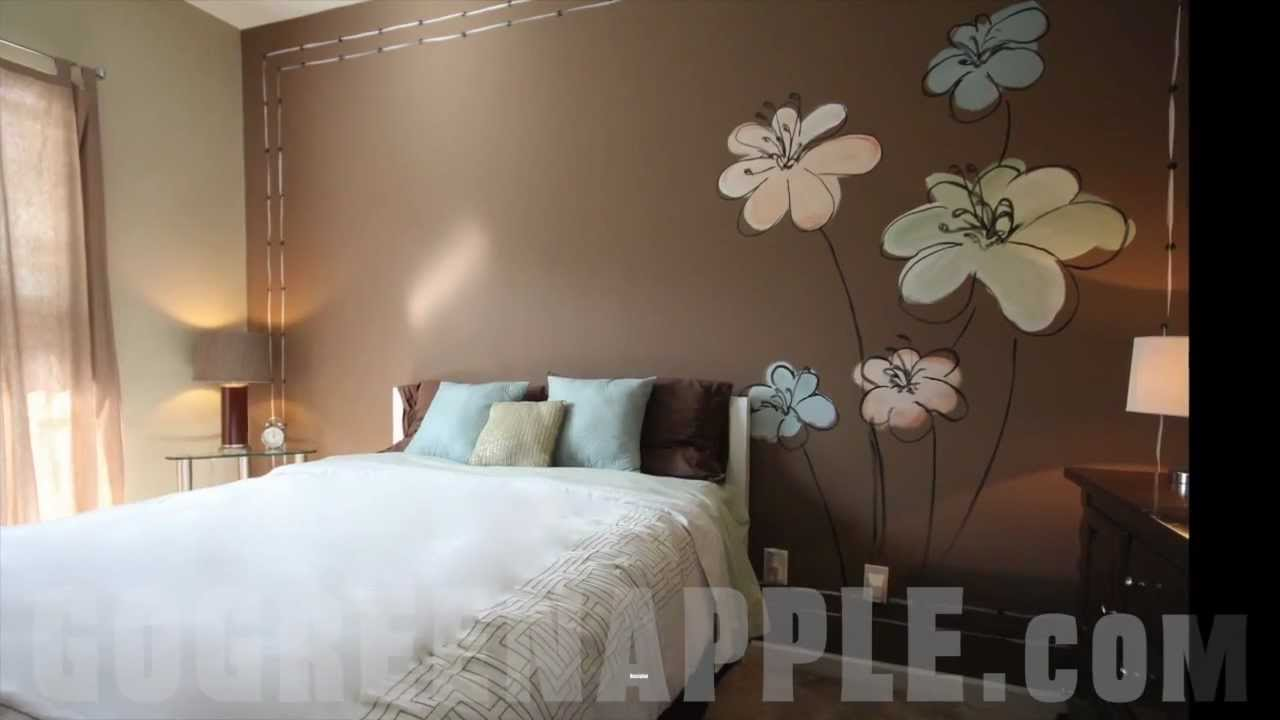 Master Bedroom Decorating Idea Green Apple Painting - YouTube