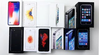 Every iPhone box EVER! - (almost)