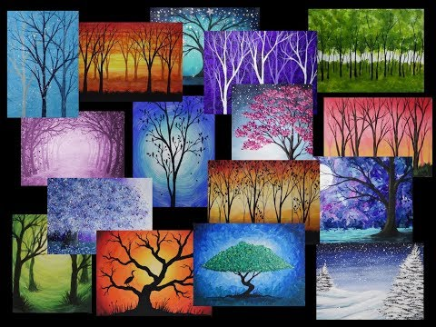My Tree Painting Collection | Slideshow by #StudioSilverCreek