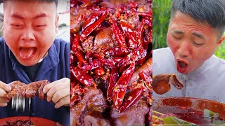 How Does It Feel Eating Electric Eel? Spicy Food Challenge || Funny Mukbang || Songsong and Ermao
