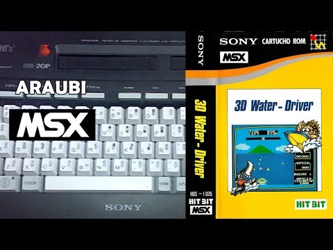 3D Water Driver (Apollo Technica, 1984) MSX [098] El Kiosko