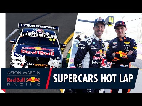 Supercars Hot Lap   Max Verstappen goes for a lap of Albert Park with Jamie Whincup