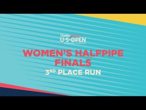 2019 Burton U·S·Open Women?s Halfpipe Finals ? 3rd Place Run