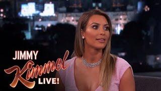 Kim Kardashian on Jimmy Kimmel Live PART 1